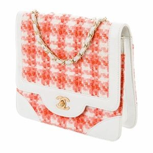 CHANEL Bags - Authentic Chanel Square Quilted Tweed Flap Bag